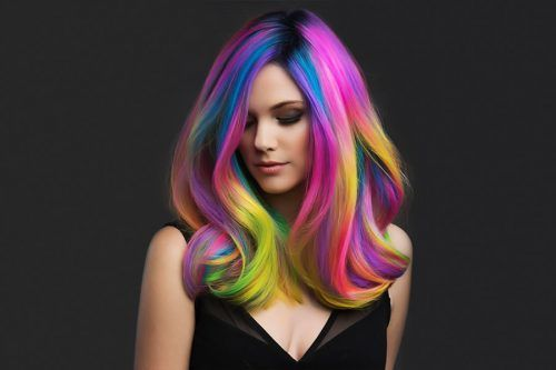 Rainbow Hair Styles to Look Like a Unicorn