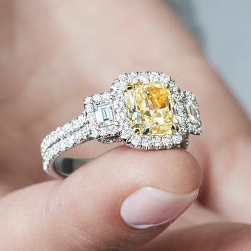 Stunning Yellow Diamond Engagement Rings picture 1