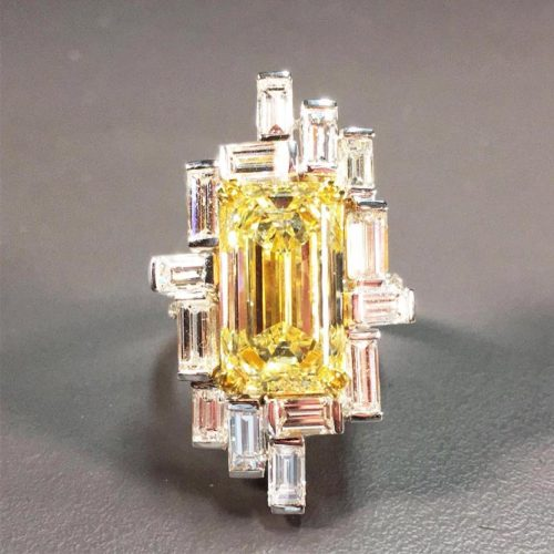 Stunning Yellow Diamond Engagement Rings picture 5