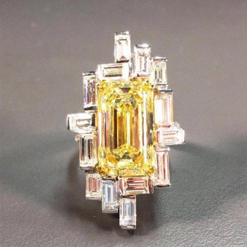 Stunning Yellow Diamond Engagement Rings picture 5