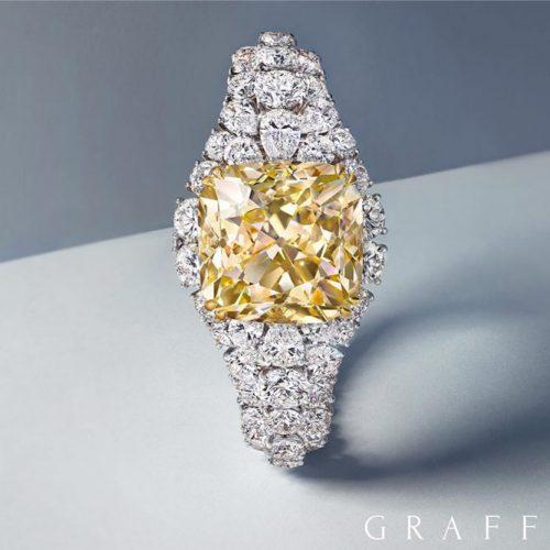 Incredible Beautiful Yellow Diamond Rings picture 3