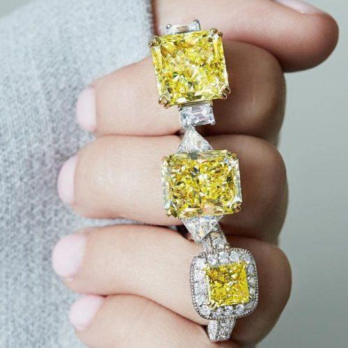 Stunning Yellow Diamond Engagement Rings picture 2