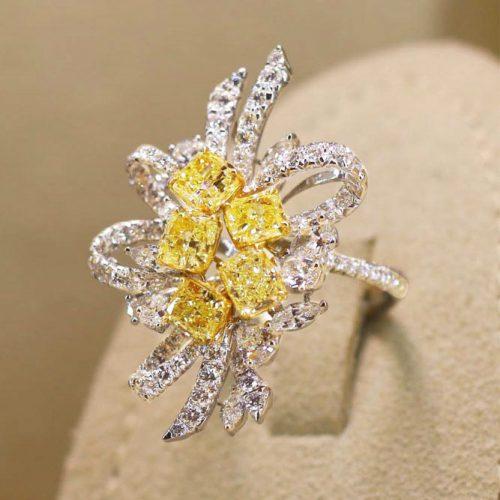 Stunning Yellow Diamond Engagement Rings picture 4