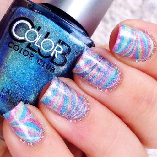 Unusual Water Marble Nail Designs Picture 3