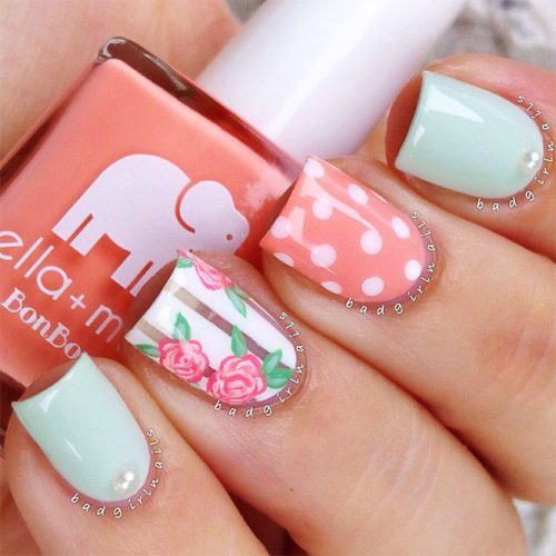 Polka Dots Nail Designs for a Cute Look Picture 2