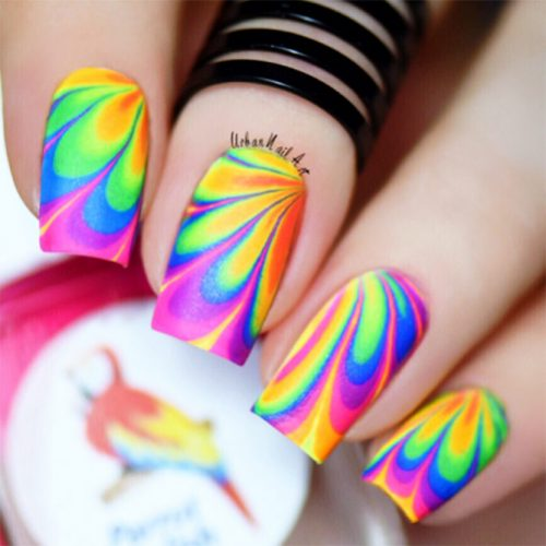 Unusual Water Marble Nail Designs Picture 2