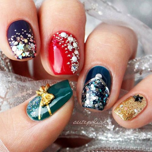 Sparkling Glitter Nail Designs for Acrylic Nails Picture 1