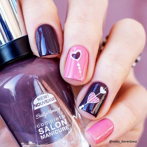 Cute Nail Art with Hearts Picture 2