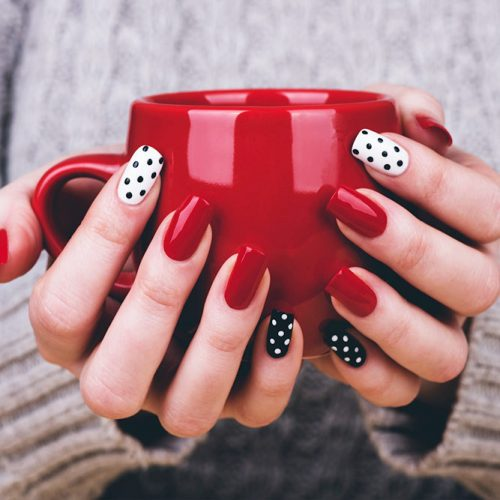 Polka Dots Nail Designs for a Cute Look Picture 3
