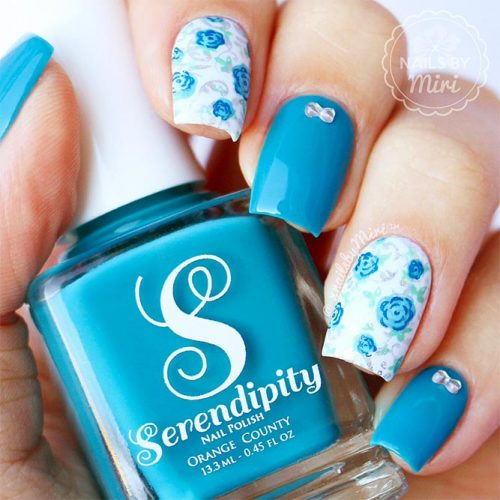 Beautiful Floral Designs for Acrylic Nails Picture 2