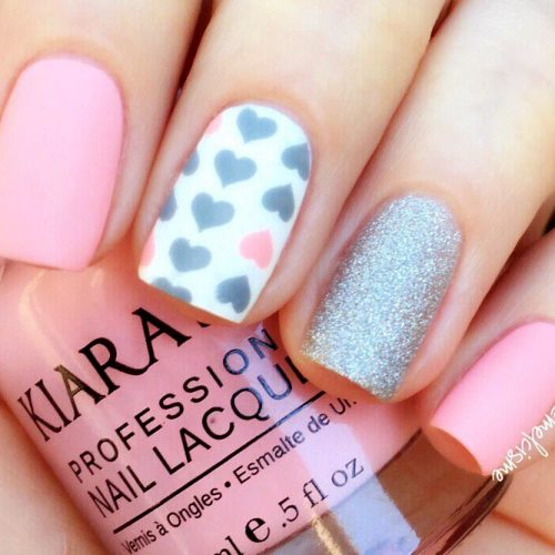 Cute Nail Art with Hearts Picture 3