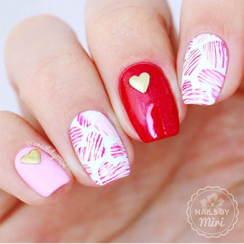 Cute Nail Art with Hearts Picture 1