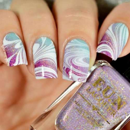 Unusual Water Marble Nail Designs Picture 1