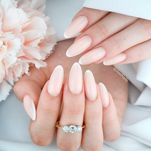 Elaganr French Nail Tips #frenchnails #nudenails