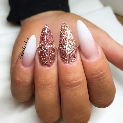Classy French Almond Nails Picture 1