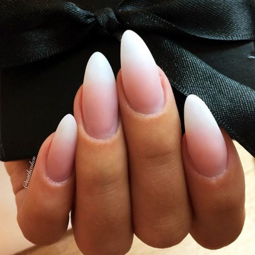 Classy French Almond Nails Picture 3