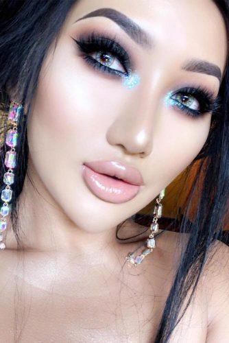 Night Glam Makeup Idea For Asian Girl #smokeyeyes