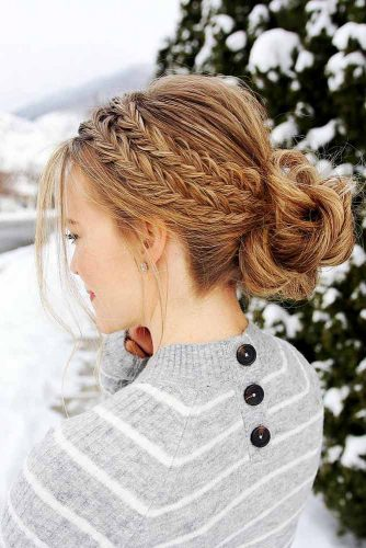Beautiful Chignon Hairstyles With Braids Picture 1