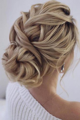 Braided Chignon Updo #braidedhairstyles #cutehairstyles