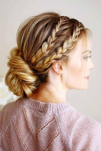 Beautiful Chignon Hairstyles With Braids Picture 3