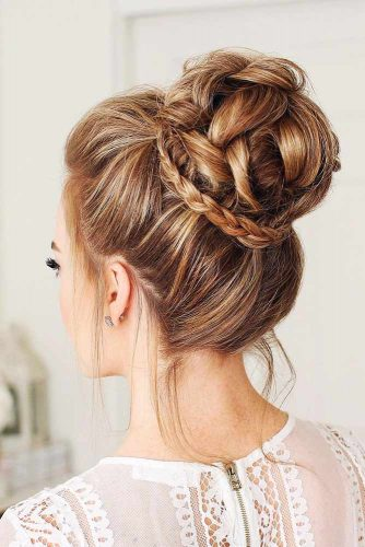 Beautiful Chignon Hairstyles With Braids Picture 2