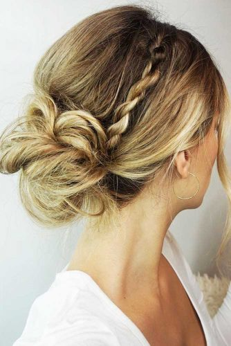 Beautiful Chignon Hairstyles With Braids Picture 5