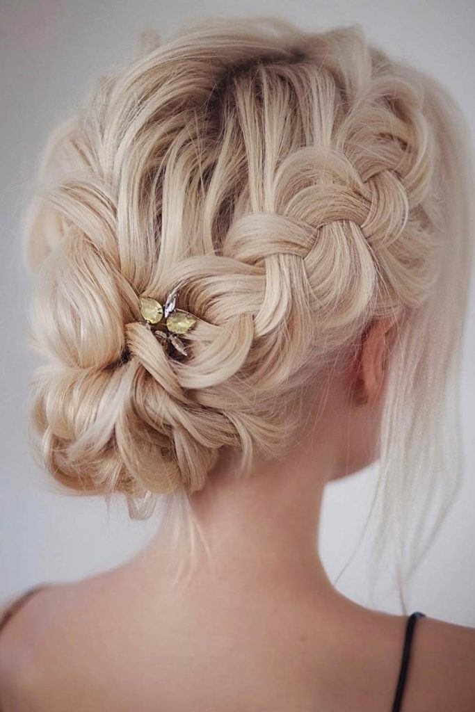 Side Braids Chignon Hairstyle