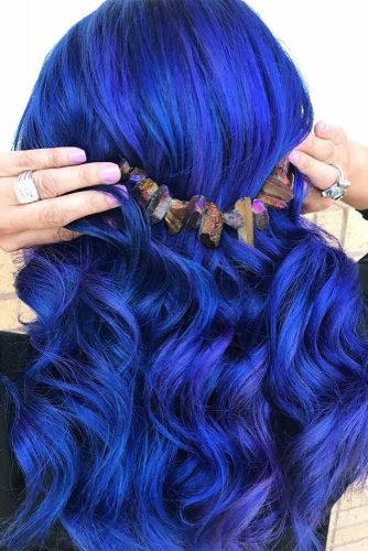 Blue Cobalt Shades In Hair Color picture 1