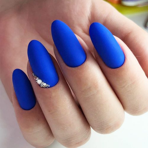 Nail Designs In Blue Cobalt Color picture 1