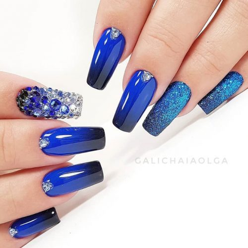 Nail Designs In Blue Cobalt Color picture 2