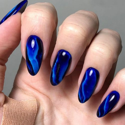 Nail Designs In Blue Cobalt Color picture 3