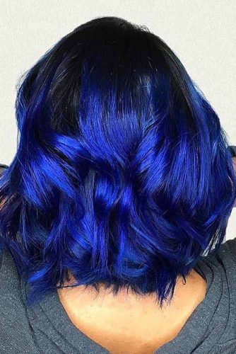 Blue Cobalt Shades In Hair Color picture 3
