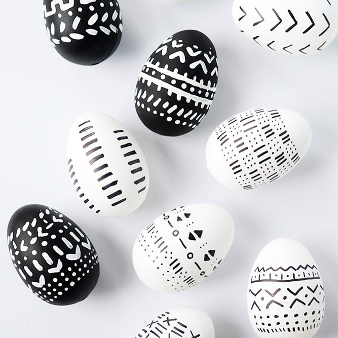 Hipster Black And White Eggs picture 1