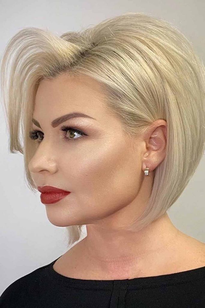 Blonde Textured Bob With Root Lift  #blondehair #prettyhairstyles