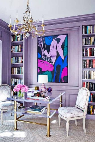 Amazing Home Decor In Lilac Color #homedecor #wallcolor