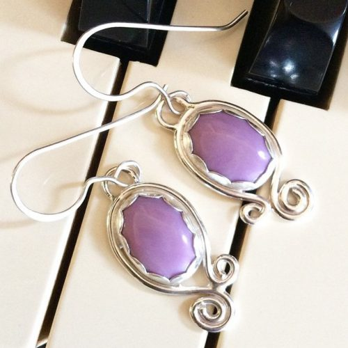Lilac Earrings Designs pictiure 3