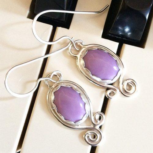 Lilac Earrings Designs pictiure 3