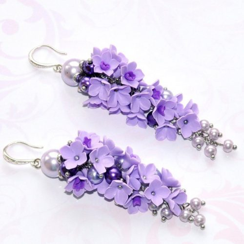 Lilac Earrings Designs pictiure 2