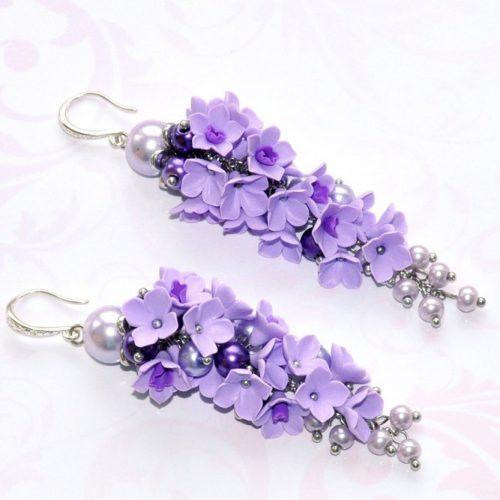 Lilac Earrings Designs pictiure 2