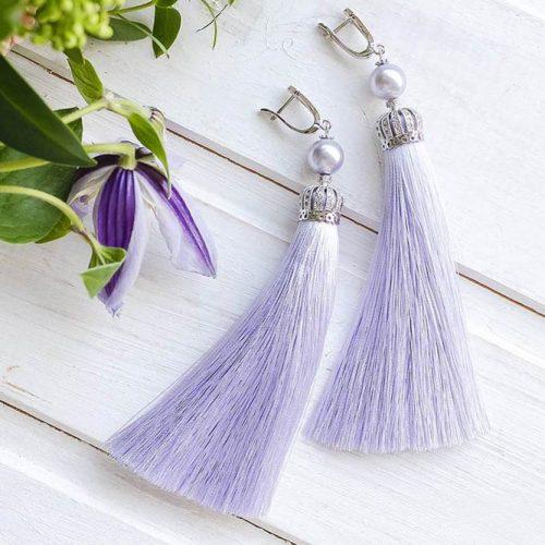 Lilac Earrings Designs pictiure 1