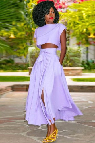 Lilac Suit Design With Maxi Skirt #maxiskirt