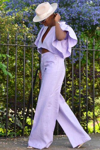 Summer Outfit Idea In Lilac Color #outfitidea