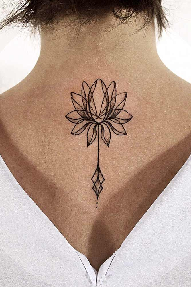 Flower Lotus Tattoo Designs On A Back Picture 1