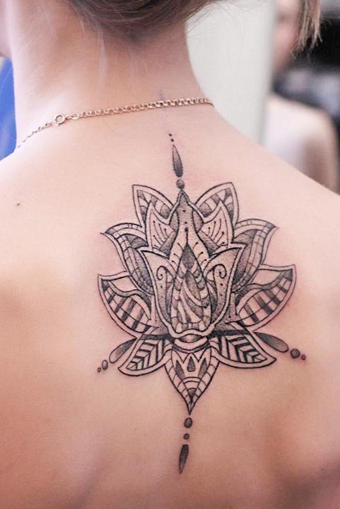 Mandala Lotus Flower Tattoo Design #backtattoo