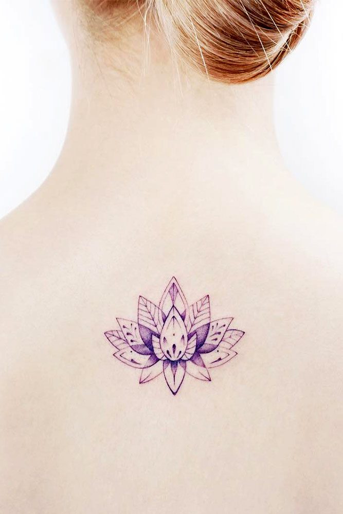 Flower Lotus Tattoo Designs On A Back Picture 3