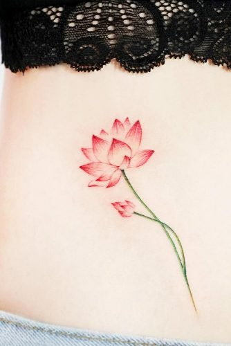 Belly Lotus Tattoo Ideas Picture 1