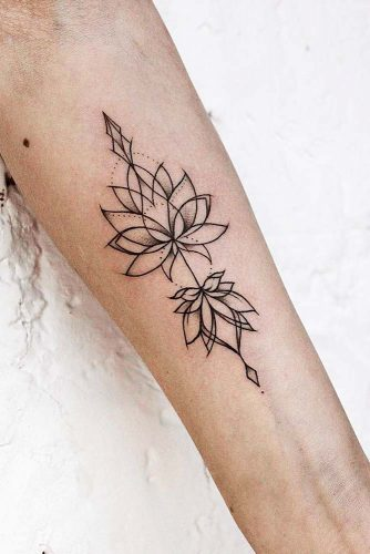Lotus Tattoos On Arms Picture 2