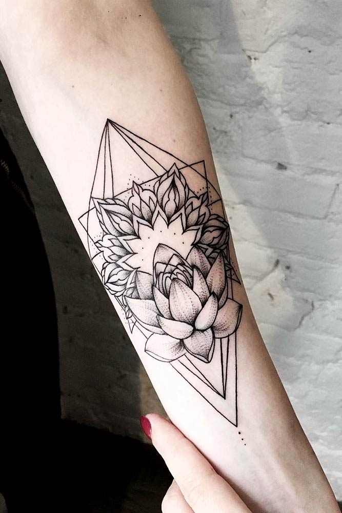 Lotus Tattoos On Arms Picture 1