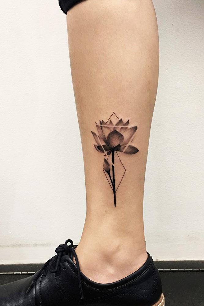 Legs Lotus Tattoo Designs Picture 1