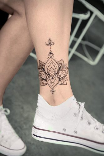 Legs Lotus Tattoo Designs Picture 3
